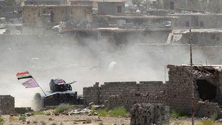 Un véhicule des forces de sécurité irakiennes dans les environs de Falloujah, le 10 juin 2016. (ALAA AL-MARJANI / REUTERS)
