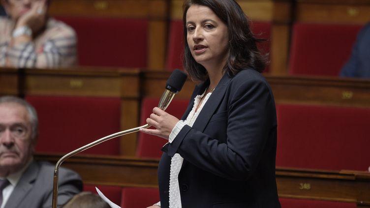 La député EELV de Paris, Cécile Duflot, le 4 novembre 2014 à l'Assemblée nationale. (MARTIN BUREAU / AFP)
