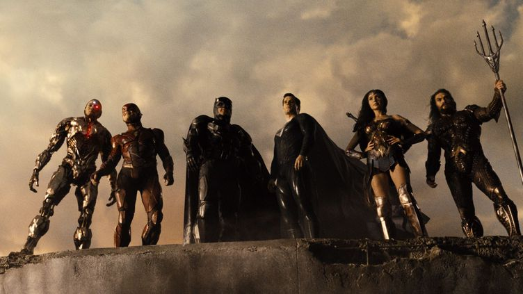 "Cyborg, Flash, Batman, Superman, Wonder Woman et Aquaman dans ""Zack Snyder's Justice League"" (2021) (WARNER BROS. FRANCE)"