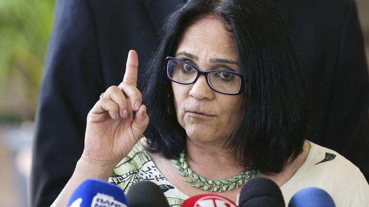 Damares Alves, ministre de la Femme, de la Famille et des Droits de l'Homme au Brésil, le 6 décembre 2018. (VALTER CAMPANATO/AP/SIPA / AP)