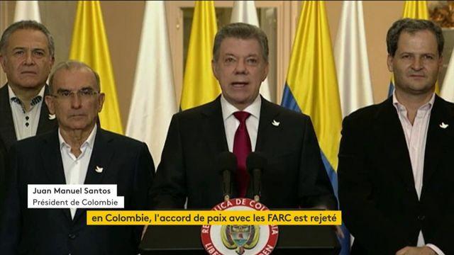 En Colombie, l'accord de paix avec les Farc est rejeté