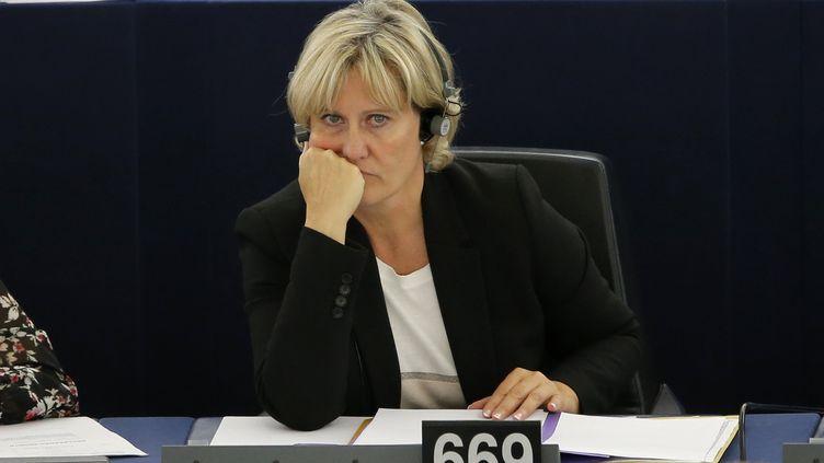 Nadine Morano assiste à une session au Parlement européen à Strasbourg (Bas-Rhin), le 7 octobre 2015. (VINCENT KESSLER / REUTERS)