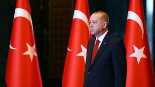 Le président turc Recep Tayip Erdogan à Ankara (Turquie), le 29 octobre 2019. (HALIL SAGIRKAYA / ANADOLU AGENCY)