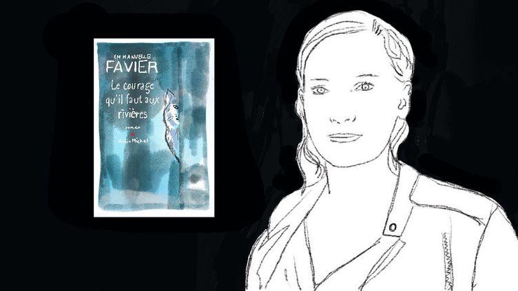 """Emmanuelle Favier publie """"Le courage qu'il faut aux rivières"""" (Albin Michel)  (Laurence Houot / Culturebox)"""