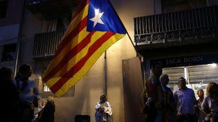 (A Barcelone, la manifestation de vendredi devrait rassembler plusieurs milliers d'indépendantistes catalans portant ce drapeau © SIPA/AP/Francisco Seco)