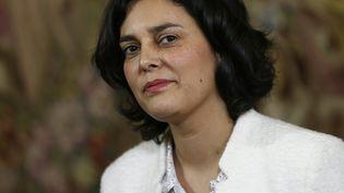 La ministre du Travail, Myriam El Khomri lors d'une conférence de presse à Matignon, à Paris, le 11 mars 2016. (THOMAS SAMSON / AFP)