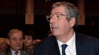 Le député-maire de Levallois-Perret, Patrick Balkany, lors d'un meeting des Républicains à Issy-les-Moulineaux (Hauts-de-Seine), le 9 décembre 2015. (MIGUEL MEDINA / AFP)