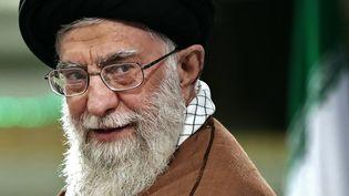 Le guide suprêmede la Révolution iranienne, l'ayatollah Ali Khamenei, le plus haut dirigeant du pays, à Téhéran (Iran), le 6 décembre 2017. (KHAMENEI.IR / AFP)