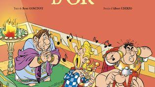 "Couverture de l'album d'Astérix ""Le Menhir d'or"" (R. Goscinny & A. Uderzo - Editions Albert René)"