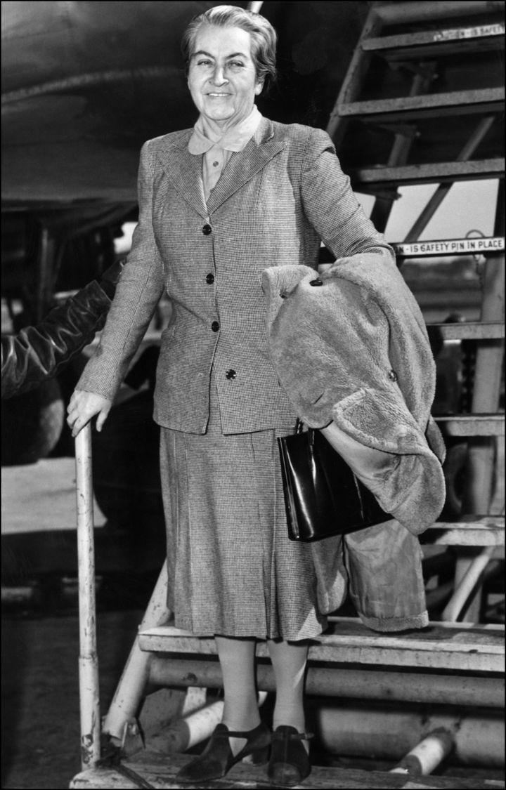 L'écrivaine chilienneGabriela Mistral le 10 mars 1946 (ACME / AFP)