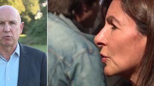 La bataille pour la présidentielle à gauche se joue déjà entre Anne Hidalgo et Yannick Jadot. La candidate socialiste doit désormais composer avec l'écologiste au positionnement proche et aux intentions de votes égales. Les journalistes de France Télévisions ont suivi les deux candidats. (CAPTURE ECRAN / FRANCEINFO)