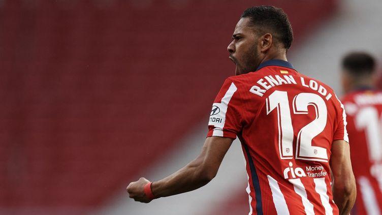 Renan Lodi (Atlético Madrid) lors de la recontre face à Osasuna, le 16 mai 2021 à Madrid. (JOSE BRETON / NURPHOTO)