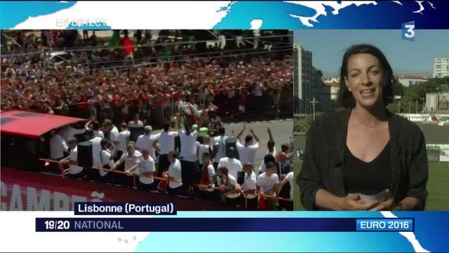 La Seleçao fête son titre de champion d'Europe à Lisbonne !