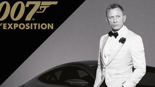 Affiche de l'exposition consacrée à James Bond, du 16 avril au 5 septembre 2016  (James Bond 007 l'exposition )