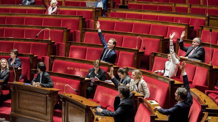 Les bancs de l'Assemblée nationale lors d'un vote sur un projet de loi sur l'exploitation des hydrocarbures, le 19 décembre 2017. (MAXPPP)