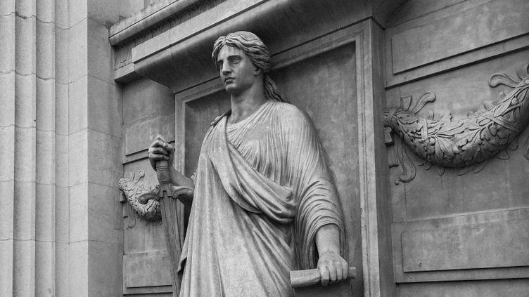Le Palais de justice de Paris, photographié par David Fritz-Goeppinger lors du procès des attentats du 13-Novembre. (DAVID FRITZ-GOEPPINGER POUR FRANCEINFO)