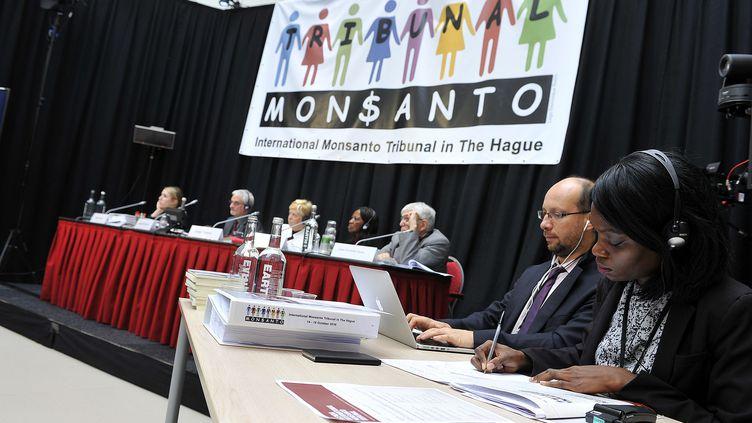 Le tribunal Monsanto s'est réuni, les 14 et 16 octobre 2016, à La Haye au Pays-Bas, pour juger de l'impact de la firme agrochimique sur la santé et l'environnement (PHOTO BY MONSANTO TRIBUNAL CC BY-NC 4.0)
