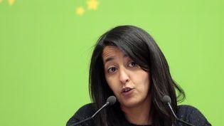 Karima Delli, député europénenne Europe Ecologie les Verts (EELV) à Paris, le 9 avril 2016. (JACQUES DEMARTHON / AFP)