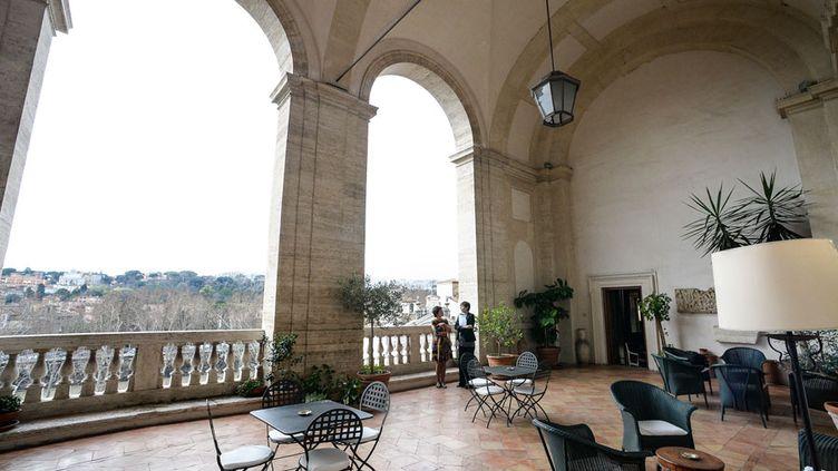 La loggia de l'Ecole française de Rome, dans le palais Farnese  (Andreas Solaro / AFP)
