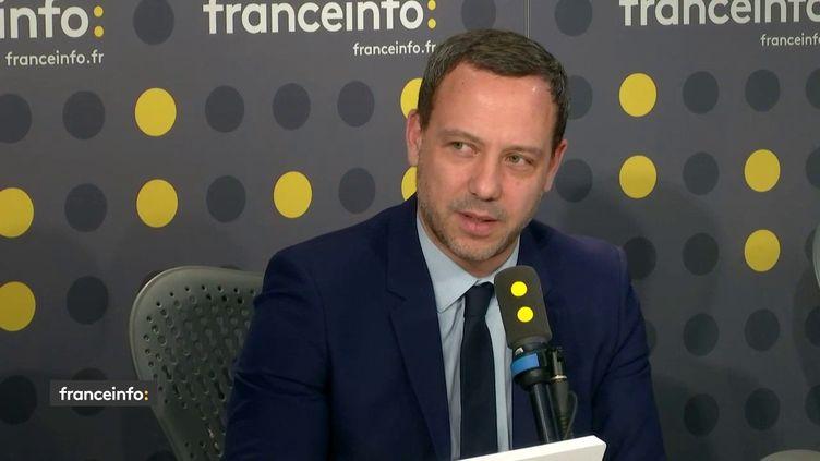 Adrien Taquet était l'invité de franceinfo mardi 21 septembre. (FRANCEINFO / RADIOFRANCE)