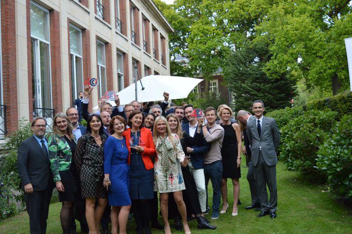 L'équipe de la CCI France Pays-Bas à Amsterdam à l'occasion de son quarantième anniversaire (Photo DR)