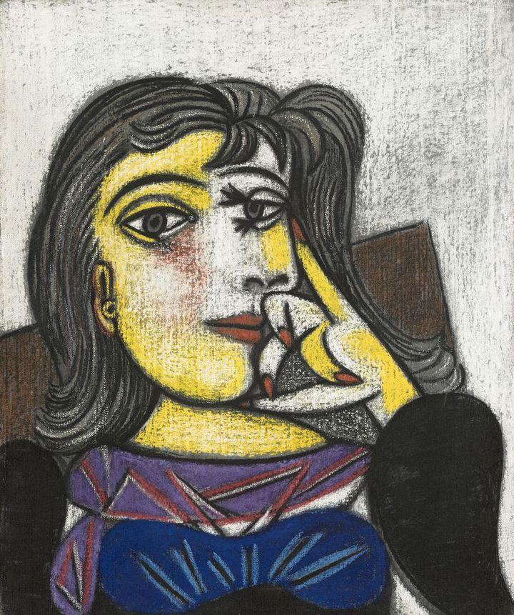 Pablo Picasso. Portrait de Dora Maar, 1937, huile et pastel sur toile. Musée national Picasso (© RMN – Grand Palais (Musée national Picasso - Paris) Mathieu Rabeau Succession Picasso,)