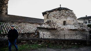 L'église du Teil, le 11 novembre 2019. (JEFF PACHOUD / AFP)