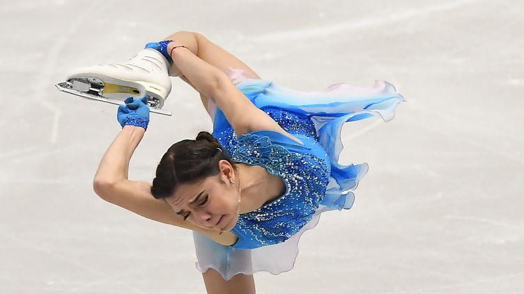 La patineuse russe Evgenia Medvedeva (JOE KLAMAR / AFP)
