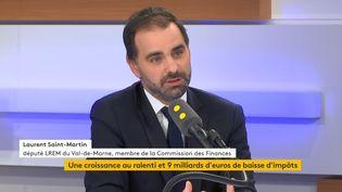 Ledéputé LREM du Val-de-Marne et futur rapporteur général du budget,Laurent Saint-Martin, le 14 octobre 2019. (FRANCEINFO / RADIOFRANCE)