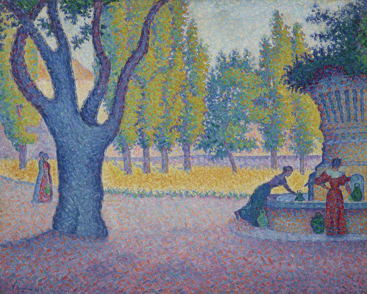 Paul Signac (1863 – 1935), Saint-Tropez. Fontaine des Lices, 1895, Huile sur toile (Collection particulière © Schaelchli-Schmidt Zurich)