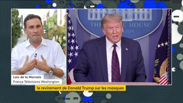 Etats-Unis : volte-face de Donald Trump sur les masques