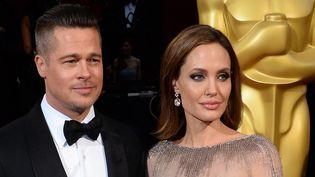 Brad Pitt et Angelina Jolie aux Oscars (2 mars 2014)  (Jim Ruymen / Upi / MaxPPP)