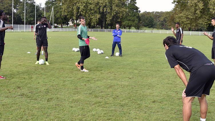 Les joueurs de Luzenac à l'entraînement (PASCAL PAVANI / AFP)