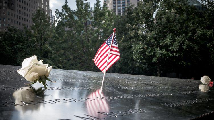Le mémorial des attentats du 11 septembre 2001, à Manhattan (New York), en septembre 2019. (ARTHUR NICHOLAS ORCHARD / HANS LUCAS / AFP)