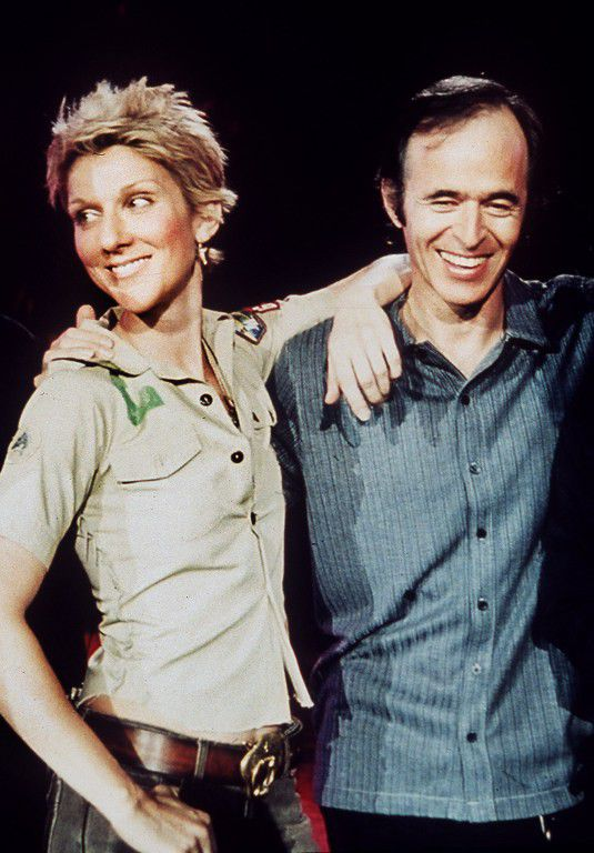 Avec Céline Dion  (AFP)