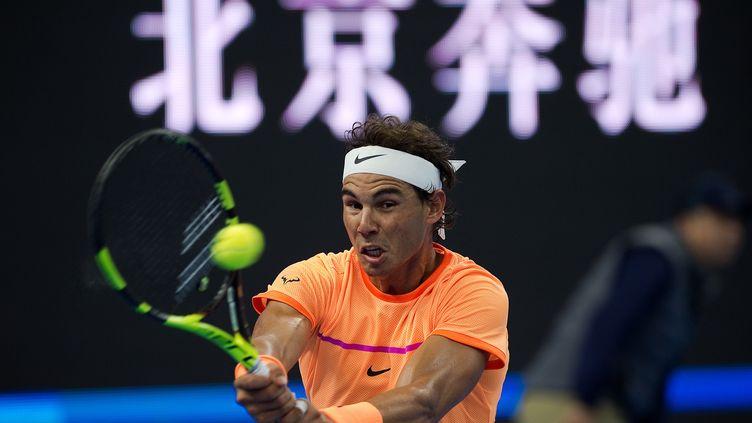 Rafael Nadal au tournoi de Pékin (Chine) (NICOLAS ASFOURI / AFP)