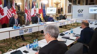 Le G7 s'est ouvertvendredi 4 juin à Londres. (STEFAN ROUSSEAU / POOL / AFP)