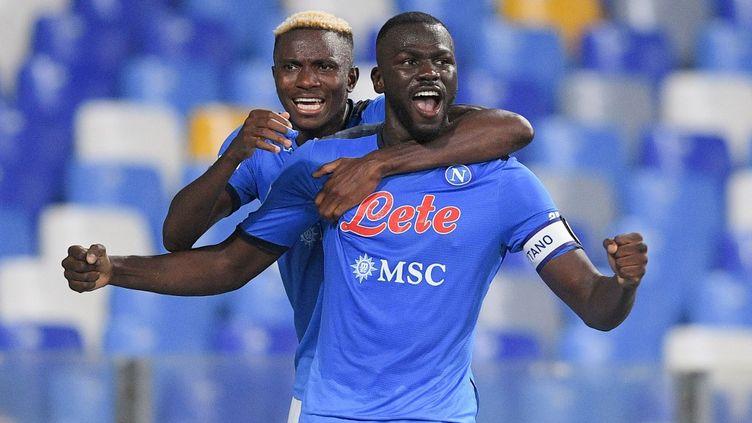 Le Napolitain Kalidou Koulibaly a marqué le but de la victoire contrela Juventus, samedi 11 septembre 2021. (GIUSEPPE MAFFIA / NURPHOTO / AFP)