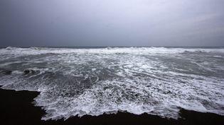 L'ouragan Patricia menace les côtes mexicaines, comme celle de Boca de Pascuales, dans l'Etat de Colima. (HECTOR GUERRERO / AFP)