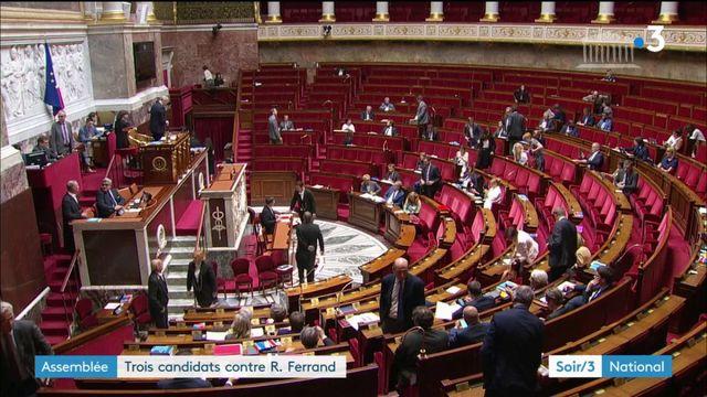 Présidence de l'Assemblée nationale : trois candidats contre Richard Ferrand