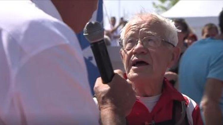Gérard Gailleton, 81 ansa couru l'Ultra trail marin de 177 km en 40h36 dans le Golfe du Morbihan. (CAPTURE D'ÉCRAN FACEBOOK)