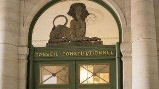 L'entrée du Conseil constitutionnel, à Paris, en 2017. (BERNARD JAUBERT / ONLY FRANCE)
