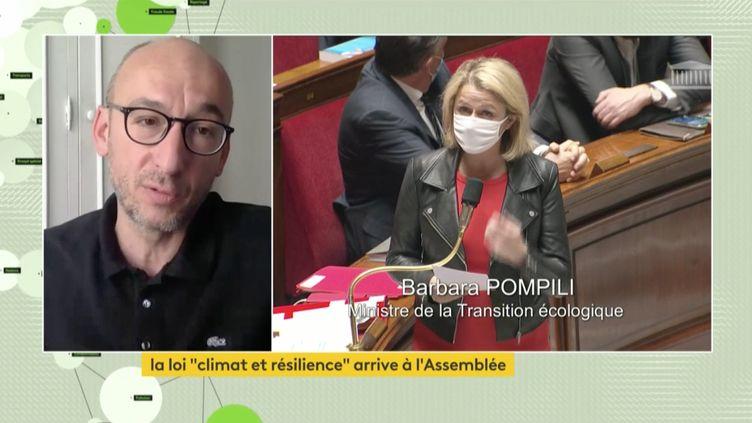 Sylvain Burquier,de la Convention citoyenne pour le climat, était l'invité deSophie Le Saint sur franceinfo canal 27. (FRANCEINFO)