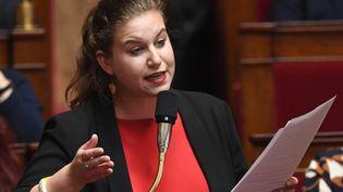 La députée Mathilde Panot à l'Assemblée nationale, le 26 mars 2019. (ERIC FEFERBERG / AFP)