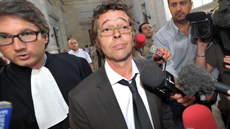 Le médecin urgentiste Nicolas Bonnemaison, le 6 septembre 2011 à la cour d'appel de Pau (Pyrénées-Atlantiques), lors de son procès. (PIERRE ANDRIEU / AFP)