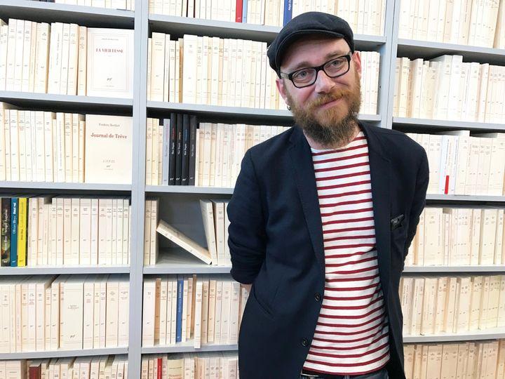 L'écrivain Joseph Ponthus au Salon Livre Paris, 16 mars 2019  (Laurence Houot / Culturebox)