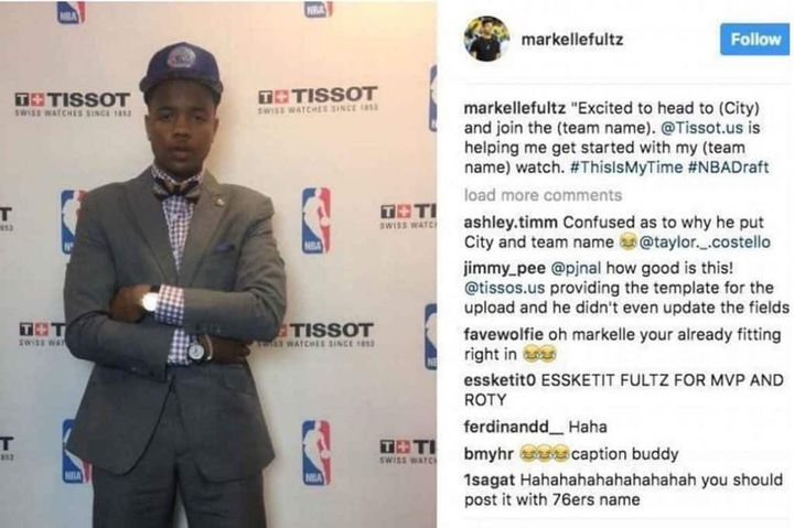 Le post Instagram de Markell Fultz
