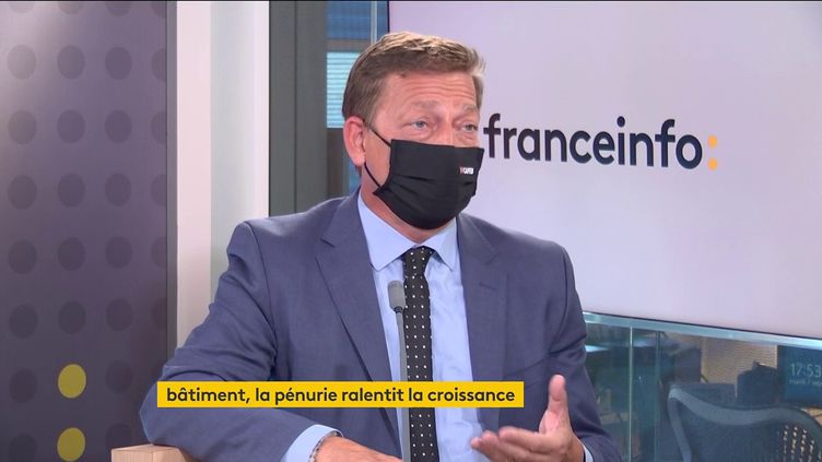 Jean-Christophe Repon, Président de la CAPEB (7 septembre 2021). (FRANCEINFO/ RADIO FRANCE)