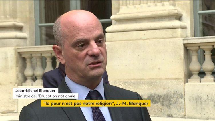 Jean-Michel Balanquer, samedi 17 octobre 2020. (FRANCEINFO)