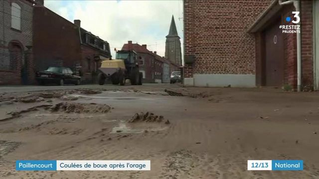 Paillencourt : coulée de boue après l'orage